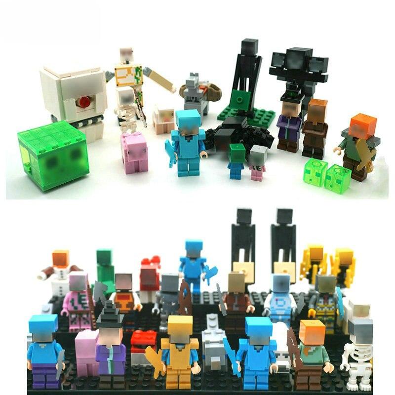 The Ghast Steve Zombie Minifigs Building Block Action Figures Compatible LegoINGlys Bricks Sets Toys For Children 12