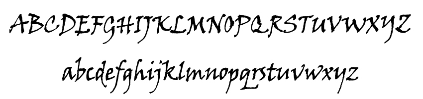 12.Viner Hand ITC font