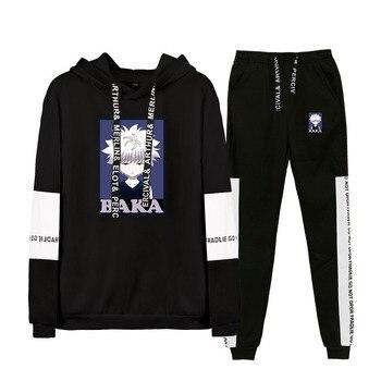 Fashion Suit Hunter x Hunter Two Piece Set top and pants Women's Tracksuit Hoodie+Pants Casual Sport 2 Piece Unisex Set