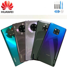 Official HUAWEI Glass Battery Back Cover + Camera Lens Frame Rear Door Housing Case For HUAWEI Mate 20/20 pro+ Free Tools