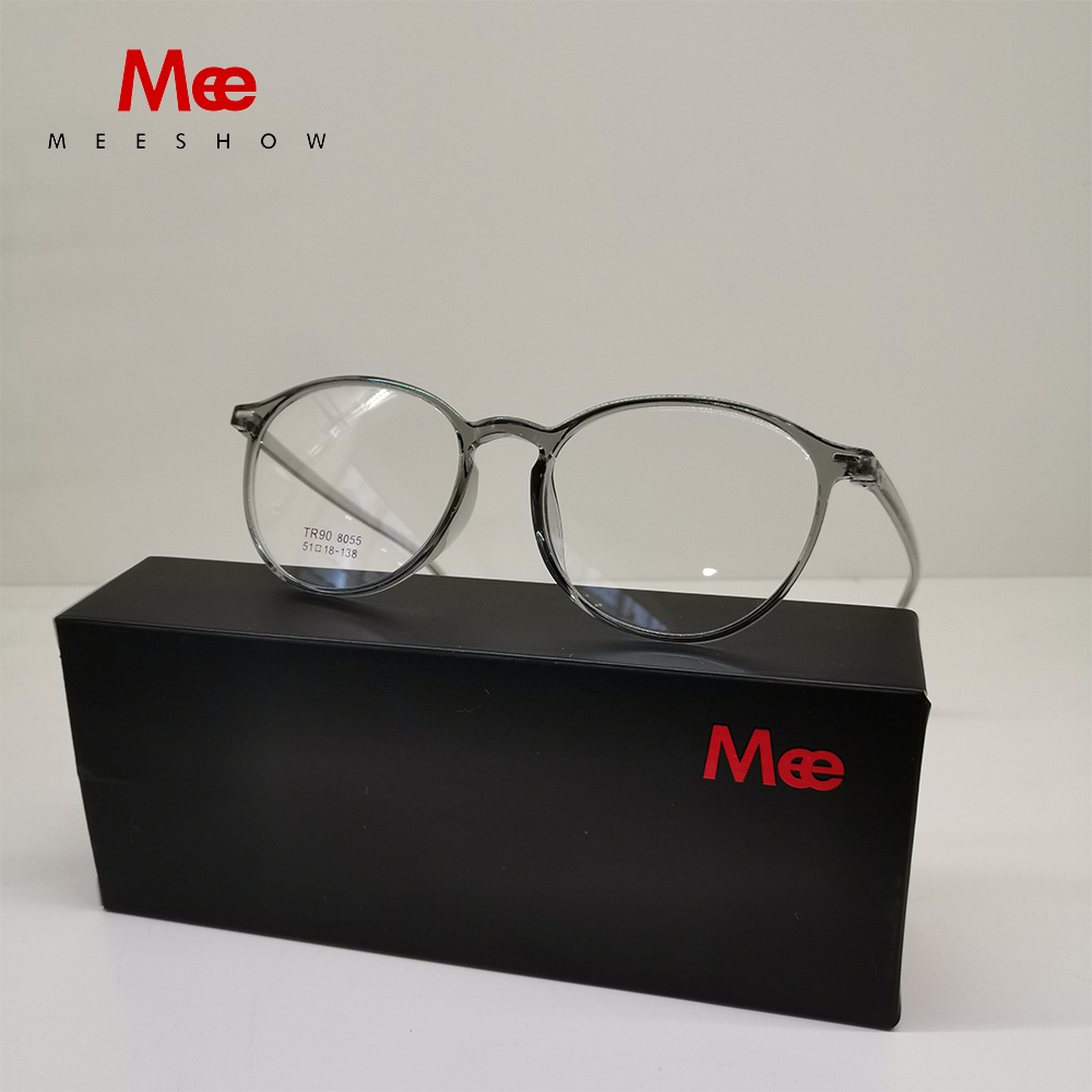 Meeshow Anti Blue Ray Reading Glasses Transparent Glasses TR90 Ultralight Retro Men Women Eyeglasses For Computer Leesbril 1933