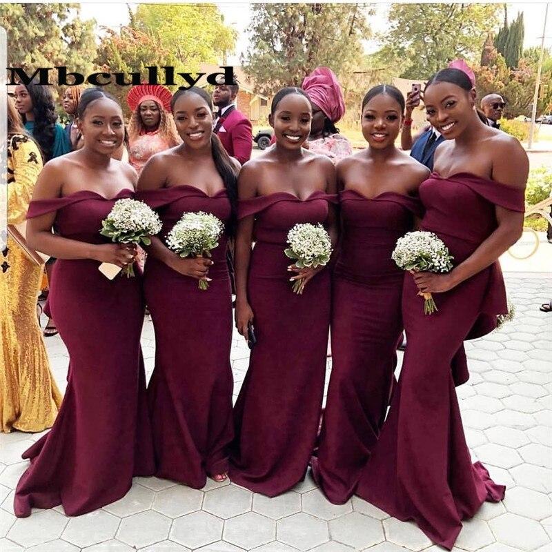 Mbcullyd Mermaid African Bridesmaid Dresses Long 2020 Sexy Off Shoulder Vestidos De Fiesta De Noche Kenya Wedding Guest Dress Bridesmaid Dresses Aliexpress,V Neck Wedding Guest Dress Uk