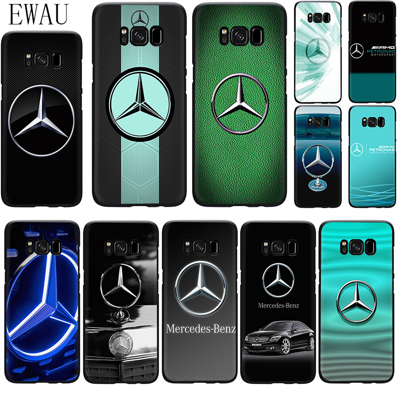 EWAU Mercedes Logo Silicone phone case for Samsung S6 S7 Edge S8 S9 S10 plus S10e Note 8 9 10 M10 20 30 40 image