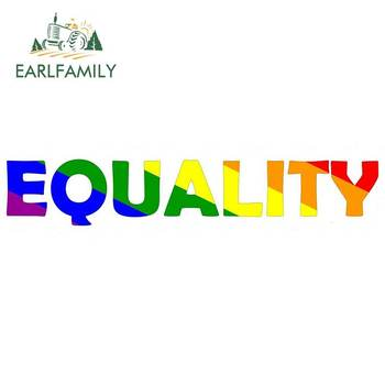 EARLFAMILY 13cm x 2.8cm for LGBTQ Equality Waterproof Car Stickers Anime RV VAN Trunk Car Door Windshield Decal Graphics image