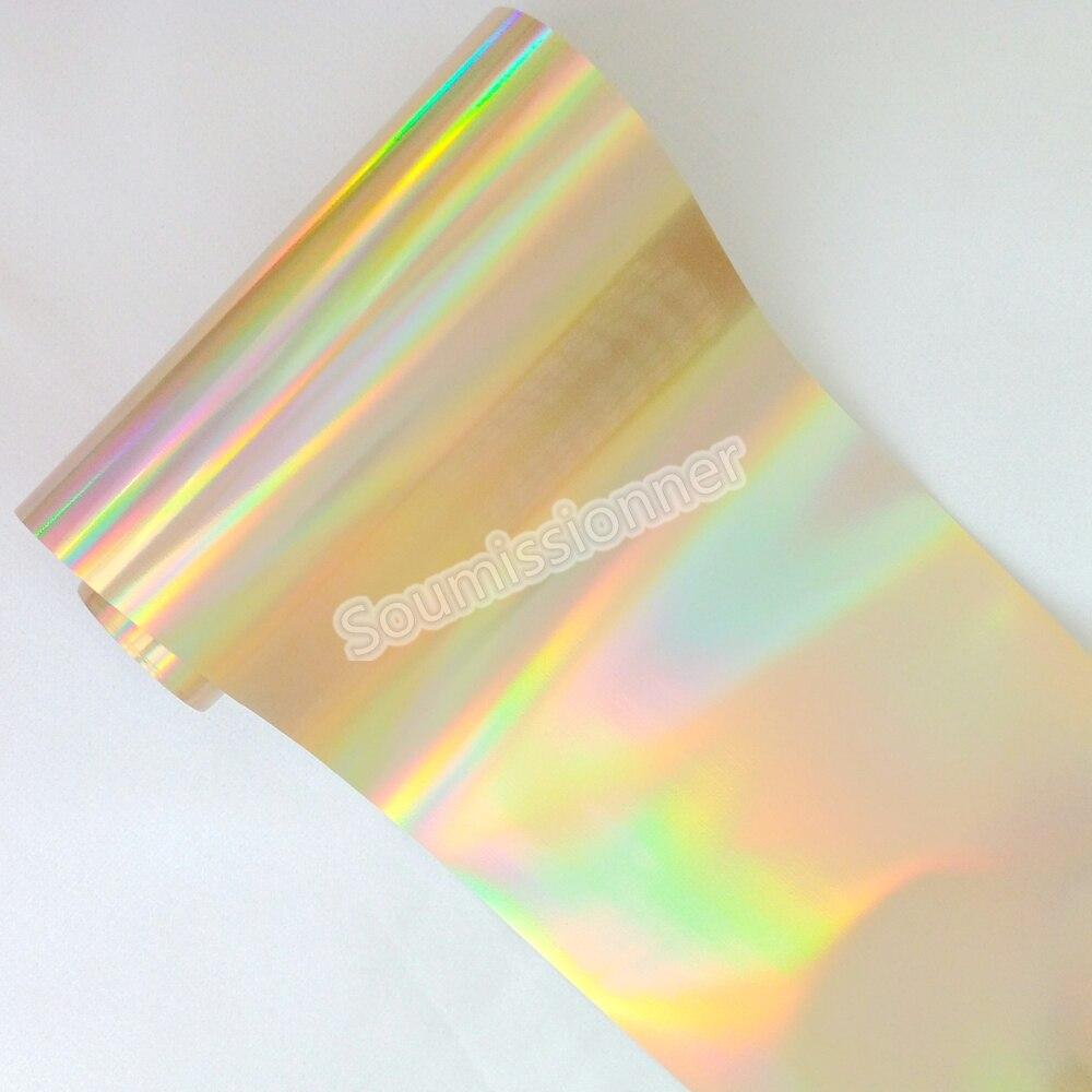 8cm x 120m atacado holográfico unhas adesivo