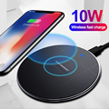 10 Вт Быстрое беспроводное зарядное устройство для iPhone 12 11 8 Plus Qi Беспроводная зарядная площадка для Samsung S10 Huawei P30 Pro зарядное устройство адапт...