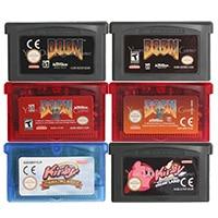 32 Bit Video Game Cartridge Console Card Kirby/Doom Series US/EU Version For Nintendo GBA