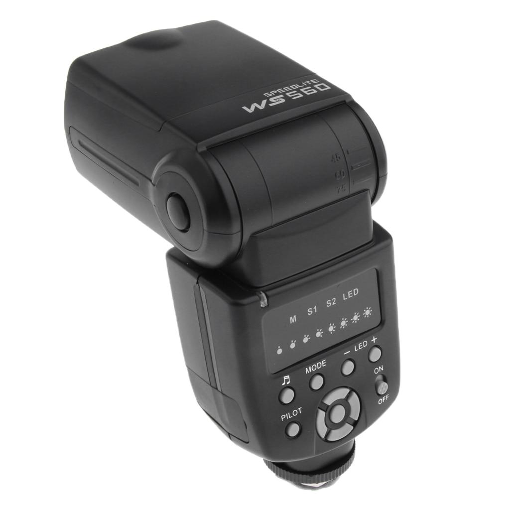WS-560 Studio de photographie Flash stroboscopique Kit d'éclairage M modes pour Nikon Canon Olympus Pentax
