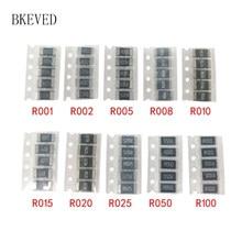 50PCS Alloy resistance 2512 SMD Resistor Samples kit10 kindsX5pcs=50pcs R001 R002 R005 R008 R010 R015 R020 R025 R050 R100