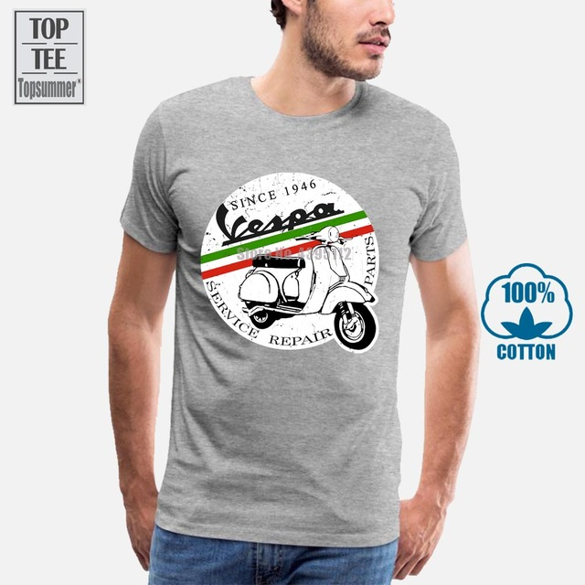 VESPA7 XL7558 cm Quality cotton t-shirt for men screen printed with breathable organic paint.