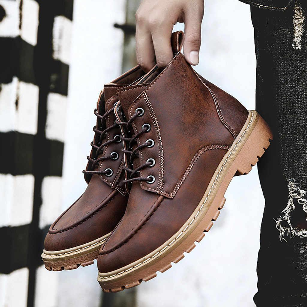 สไตล์อังกฤษ Brogue รองเท้าเชลซีรองเท้าบุรุษข้อเท้ารองเท้าบู๊ตผู้ชายรองเท้าเย็บรองเท้าเชลซีชายผ้าฝ้ายรองเท้า