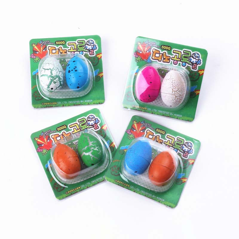 2020 Novelty Toy 2Pcs Cute Magic Hatched Dinosaur Eggs Water Growing Dinosaurs Educational Gag Toy For Kids Gifts