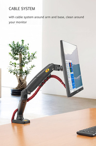 "Image 5 - NB NEW F80+2pc USB3.0 17 27"" desktop LED LCD Monitor Holder Arm Gas Spring Full Motion 2 9kg ergonomica dual arm"