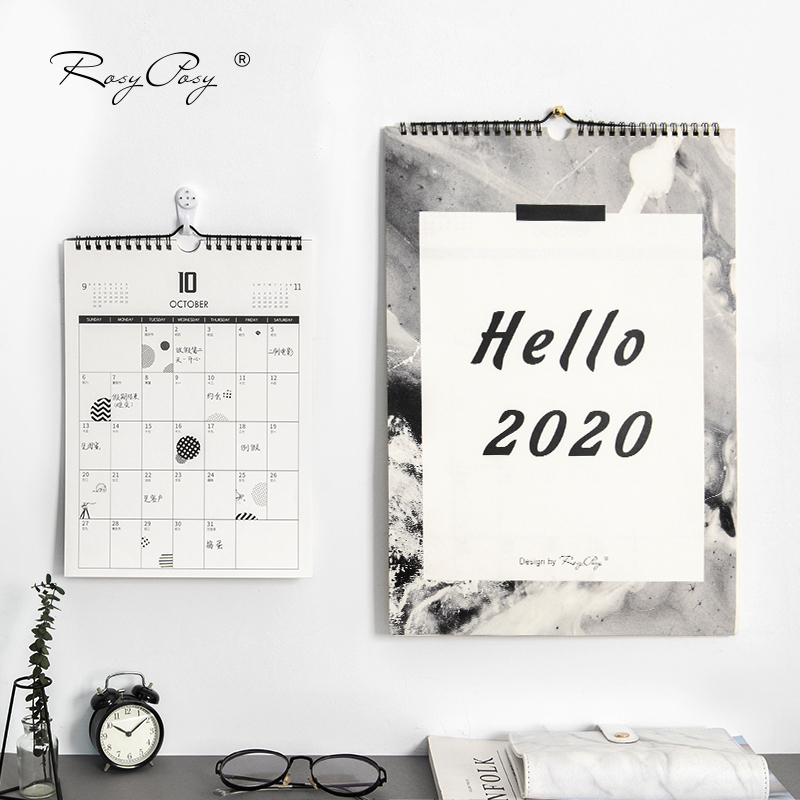 2020 Ins Simple Style Calendar DIY Moon Wall Calendars Daily Schedule Planner Daily Yearly Agenda Organizer