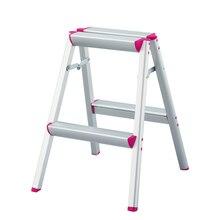 Хасегава стремянка двусторонняя многоцелевой легкий алюминий антипробуксовочная ног складная конструкция идеально подходит для дома/кухня розовый