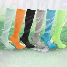 Для женщин и мужчин повседневный Стиль Печатные Компрессионные носки Высокое качество полиэстер нейлон чулки до колен футбол, баскетбол, Спорт Носки