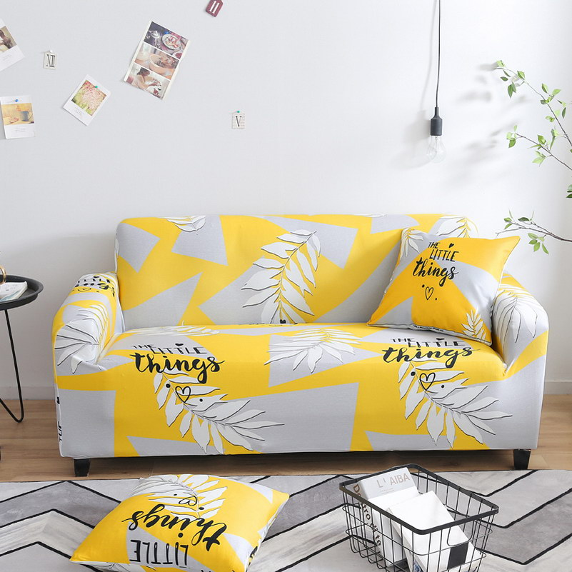 New Plants Sectional Stretch Sofa Covers Elastic Hussen All-inclusive Polyester Sofa Cushion Sofa Towel For Living Room