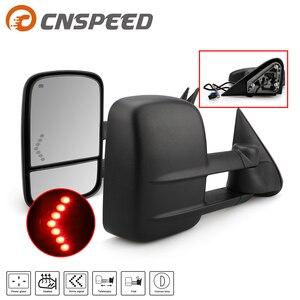 Светодиодные сигналы мощность с подогревом defog размораживание буксировочные зеркала с выпуклым слепое пятно зеркало для 03-06 Chevy Silverado 1500/2500/...