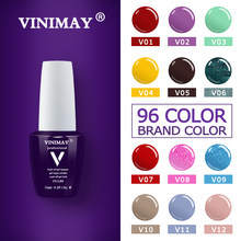 Vinimay Gel Cat Kuku Baru 96 Warna Gelpolish Gel Pernis Gellak Pernis Primer Set Rendam Off Opies Uv Gel Polandia nail Art 15 Ml(China)