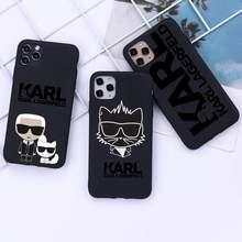 Lagerfeld marca de luxo designer karls caso telefone para iphone 12 11 pro mini xs max 8 7 6s plus x 5S se 2020 xr capa