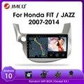 Автомобильная магнитола JMCQ Android 9,0 для HONDA FIT JAZZ 2007-2013, мультимедийный видеоплеер, 2 din, зеркальное соединение, Раздельный экран, головное устро...