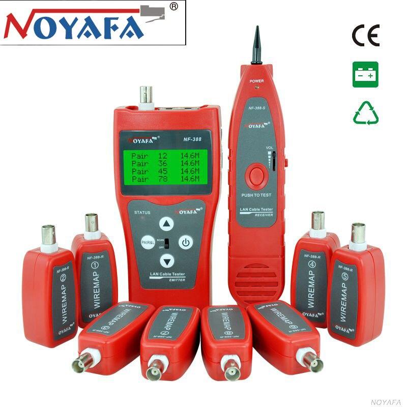 NOYAFA NF-388 tester de cable de Red multiusos, rastreador de Cable RJ45, probador de cable NF-388 versión en inglés, probador de Cable de Audio rojo Convertidor de medios de Fibra óptica a rj45 UTP 1310/1550, Fibra a conmutador ethernet, Fibra de 10/100M, transceptor de Fibra óptica