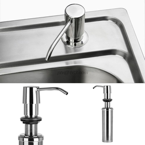 Image 2 - 300ml Soap Dispenser Lotion Pump Liquid Detergent Built In Installation Hand Sanitizer Organizer Stainless Steel For Bathroom Ki