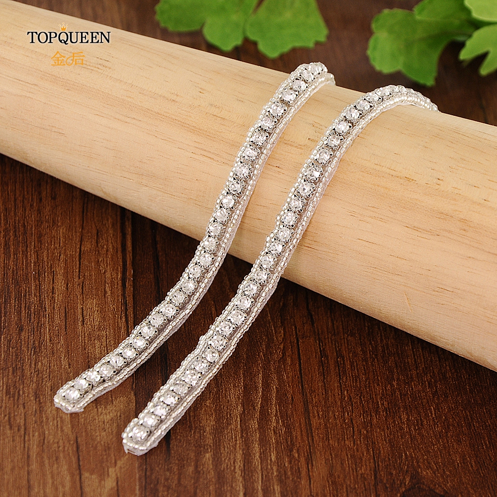 TOPQUEEN  Thin Crystal Wedding Belt Bridesmaids Belts For Dress Sash Belts For Dresses  Jewel Belt Only Applique S217