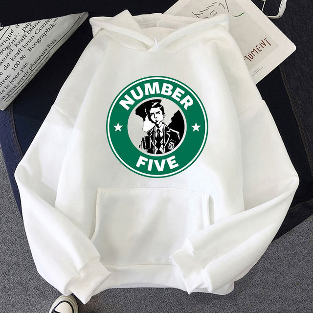 NUMBER FIVE THE UMBRELLA ACADEMY THEMED HOODIE (5 VARIAN)