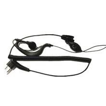 10pc 2pin g-forma fone de ouvido microfone ptt para motorola rádio em dois sentidos gp88 gp300 cp040 cp110 cp125 cp200 axv5100 axu4100