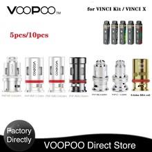 Gorący oryginalny VOOPOO VOOPOO PnP cewka dla VINCI Mod Pod zestaw Vinci X z PnP-VM1 0 3ohm cewka z siatką dla E Cigerette spirala grzejna tanie tanio VOOPOO PnP-VM1 Mesh Coil DS NC 5pcs pack