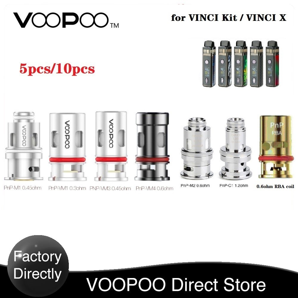 Hot Original VOOPOO VOOPOO PnP Coil For VINCI Mod Pod Kit / Vinci X With The PnP-VM1 0.3ohm Mesh Coil For E Cigerette Vape Coil