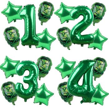 5 sztuk Avengers Hulk Iron Man z balonów foliowych zielony numer Party nadmuchiwane głowy balon dekoracja urodzinowa dla dzieci zabawki Globos tanie i dobre opinie MARVEL CN (pochodzenie) PENTAGRAM FOLIA ALUMINIOWA Ślub i Zaręczyny Chrzest chrzciny Na Dzień świętego Patryka Wielkie wydarzenie