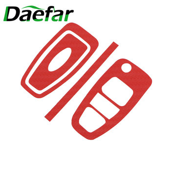 Daefar Carbon Fiber Car Key Protection Cover Trim Stickers Case for Ford Focus 3 4 MK3 MK4 Ranger Kuga Escape Folded Key image