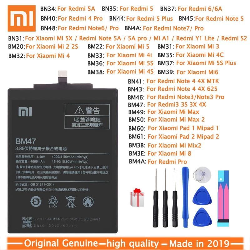 Xiao Mi Original Phone Battery For Xiaomi Redmi Note 4 4X 3 3S 3X 4X 4A 3 Pro 5 5A 6 6A Pro Mi4C Mi 5X Mi 5 Mi5 M5 Mi6 Batteries