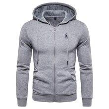 2019 New Autumn Winter Hoodied Mens Sweatshirts Solid Hoody Fleece Thick Hoodies Men Sportswear Zipper