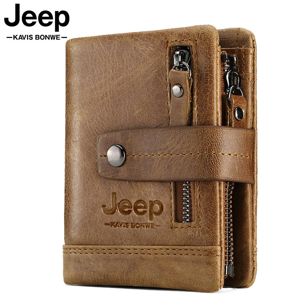 HUMERPAUL Genuine Leather Wallet Fashion Men Coin Purse Small Card Holder PORTFOLIO Portomonee Male Walet for Friend Money Bag