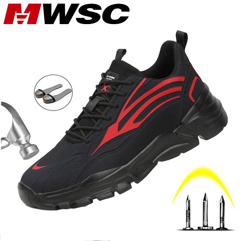 MWSC, новый дизайн, Рабочая защитная обувь для мужчин, уличная защитная обувь со стальным носком, защитная Рабочая обувь