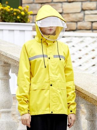 Blue Rain Coat Pants Set Riding Men's Electric Motorcycle Raincoat Waterproof Adult Rain Poncho Outdoor Sports Suit Gift Ideas 3