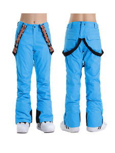 Clothing Ski-Pants Snowboarding Outdoor Solid-Color Women Winter Waterproof Warm Thick