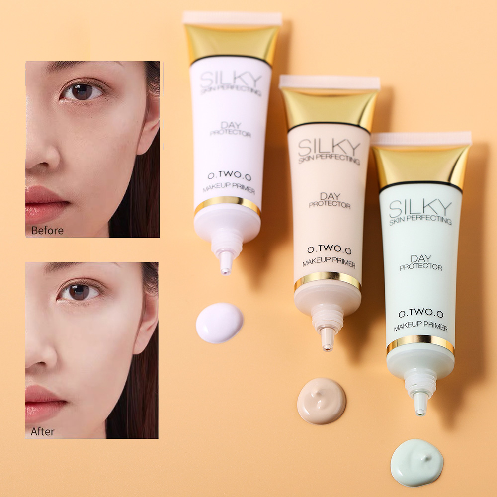 Makeup Primer Brighten Even Skin Tone Concealer Invisible Pores Moisturzing Long Lasting Oil Control Make Up Base Milk Green
