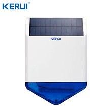 KERUI SJ1 חיצוני אלחוטי שמש שמש סירנה עבור GSM מעורר מערכת אבטחת Strobe פלאש סירנה עמיד למים אנטי לחבל