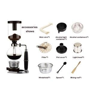 Image 5 - Styl domowy ekspres do kawy syfon syfon do herbaty garnek próżniowy ekspres do kawy typ szkła filtr do maszyny do kawy 3cup 5 filiżanek