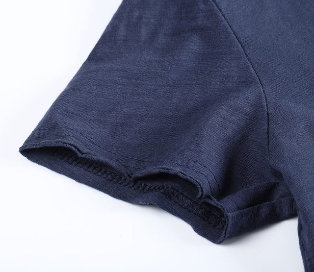 Brand Quality 100% Cotton Men T-shirt V-neck Fashion Design Slim Fit Soild T-shirts Male Tops Tees Short Sleeve T Shirt For Men 6