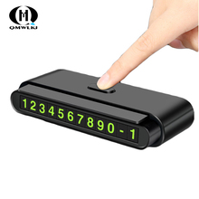Car Temporary Parking Card Phone Number Card Plate Telephone Number Car Park Stop Luminous Phone Number Plate Auto Stickers number