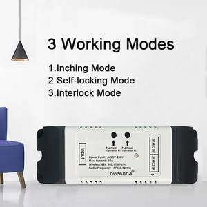 Image 3 - eWeLink WiFi Switch 2 channal relay DC 7 32V/AC 220v motor Curtain switch Inching Interlock Self locking smart home wifi module