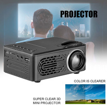 HD Neat Portable Pocket Projector Support 1080P Built-in Stereo Speaker for Home