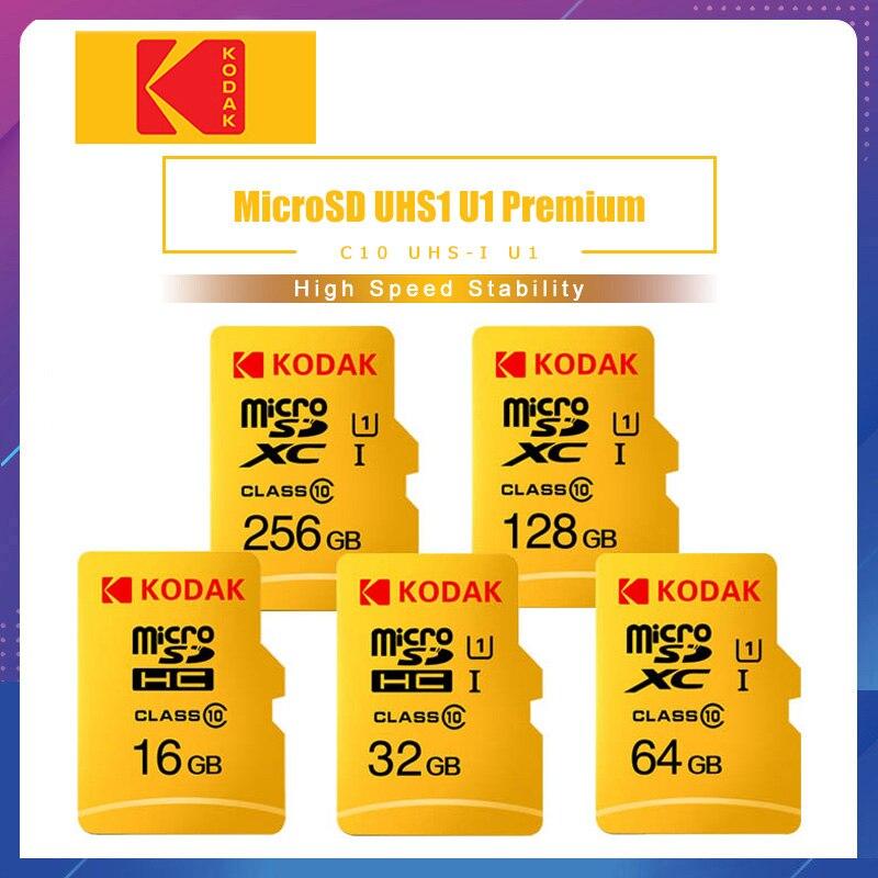 Kodak High Speed 16GB TF / Micro SD Card 32GB Cartao De Memoria Class10 U1 64GB Flash Memory Card Microsd 128GB Micro Sd Kart