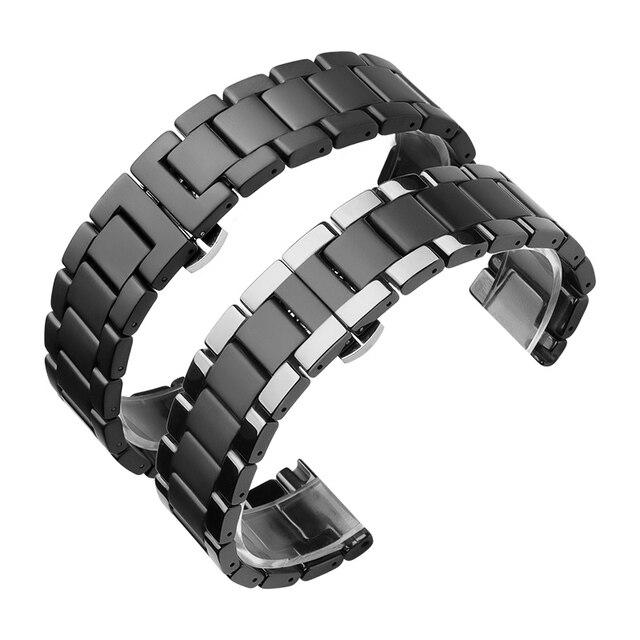 20 22 ミリメートルセラミックバンドのための samsung gear s2 S3/銀河 46 ミリメートル 42 ミリメートル交換用ストラップ huawei watch GT/ 名誉魔法の時計 2 ストラップ
