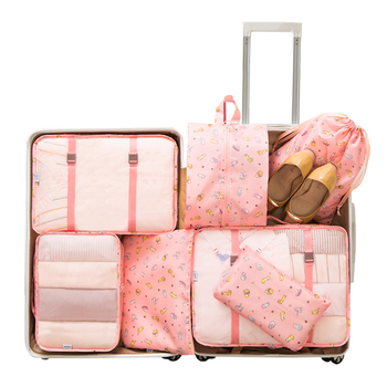 7PCS/Set Luggage Packing Travel Organizer Clothes Storage Waterproof Bags Mesh Bag In Pouch Packing CubeTravel Accessories